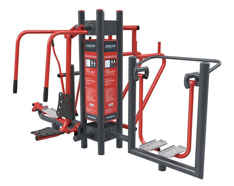 Four outdoor gym stations