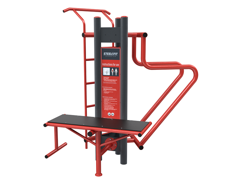 Three outdoor gym stations