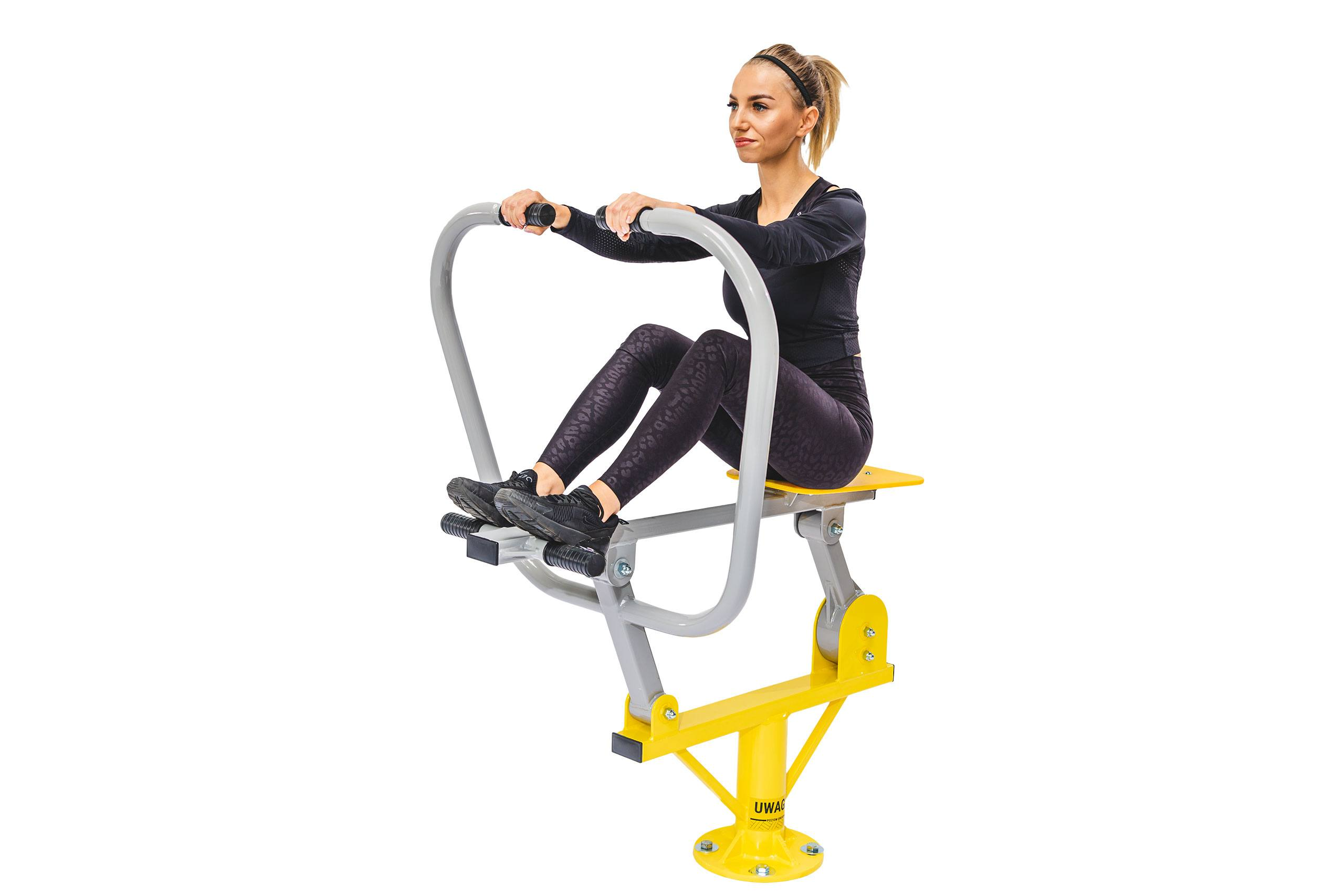 Rower outdoor gym workout